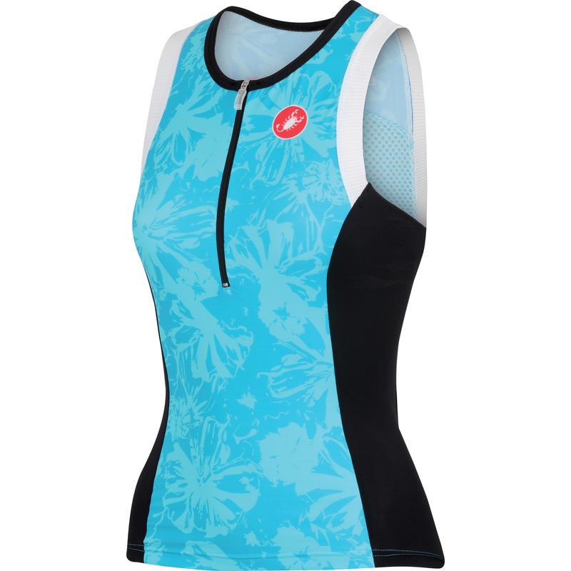 Débardeur de triathlon Free Bleu pastel
