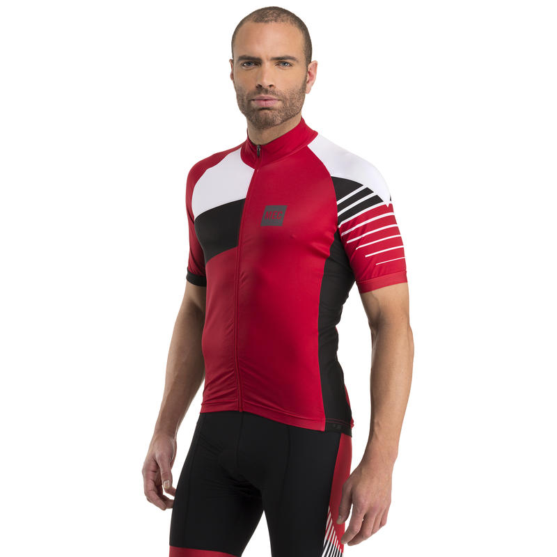 Rouleur SS Jersey Racing Red/White Lines Graphic