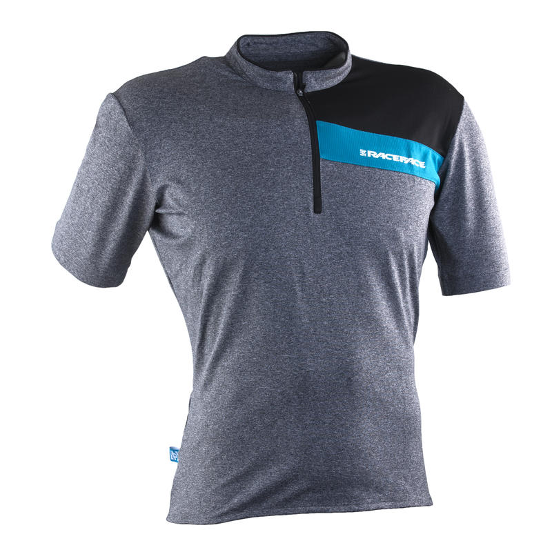 Podium SS Jersey Charcoal/Turquoise