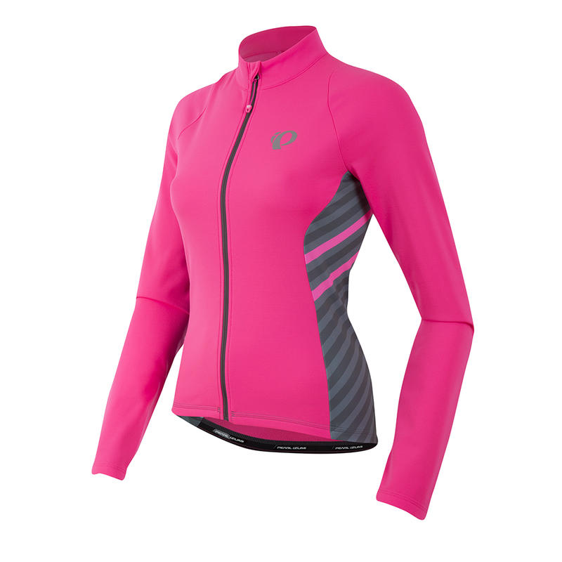 Maillot Select Pursuit Thermal à manches longues Rayures rose hurlements