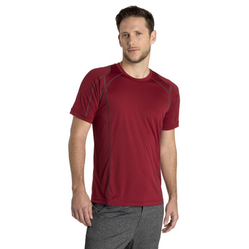 Core Shot Short-Sleeved Top Garnet