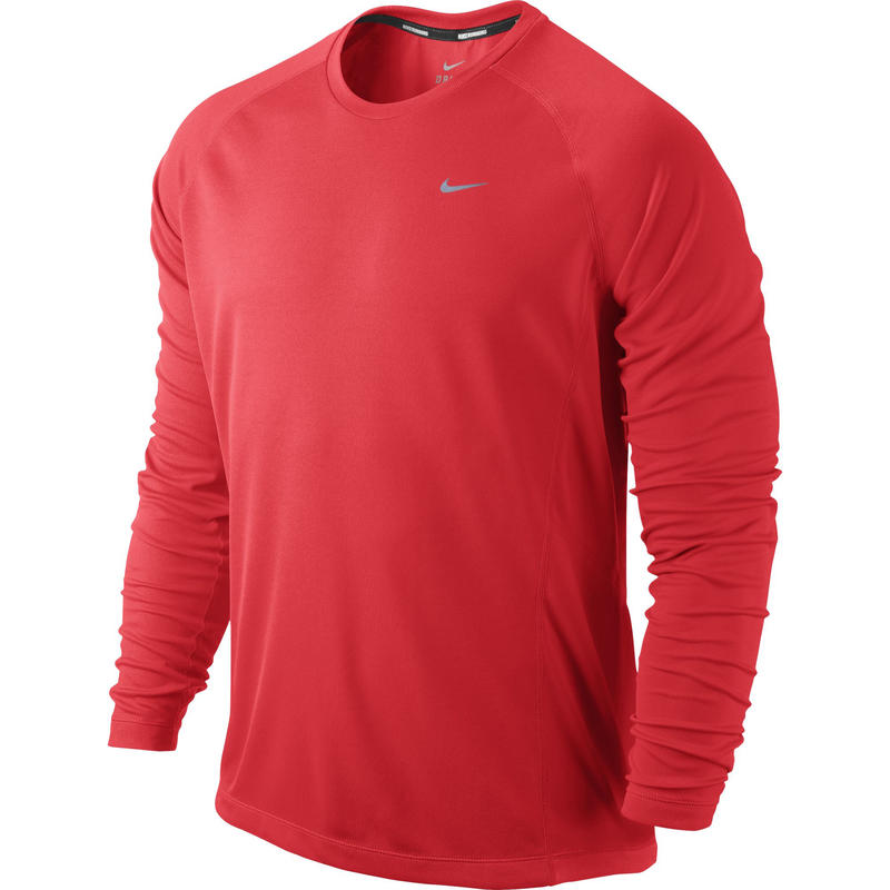 Miler Long Sleeve UV Bright Crimson