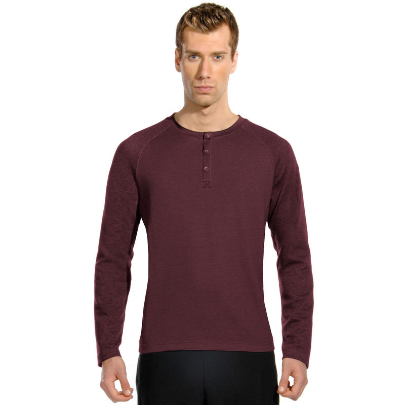 Princeton Long Sleeve Heather Zinfandel