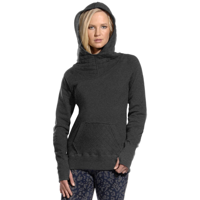 Fiona Quilted Hoodie Heather Charcoal