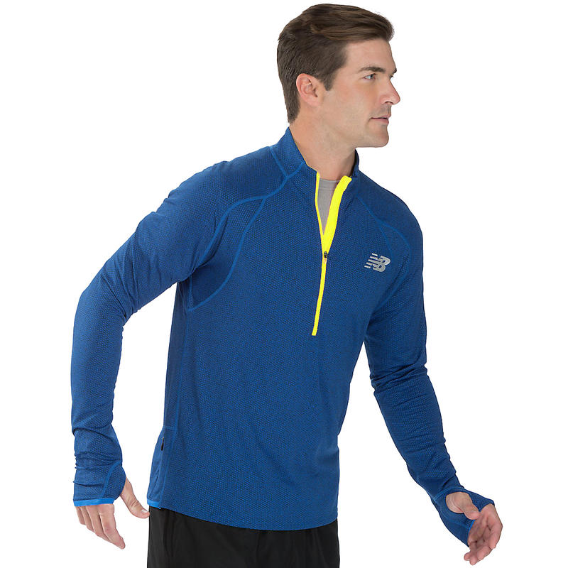 Boylston Half Zip Top Laser Blue/Hi-Lite