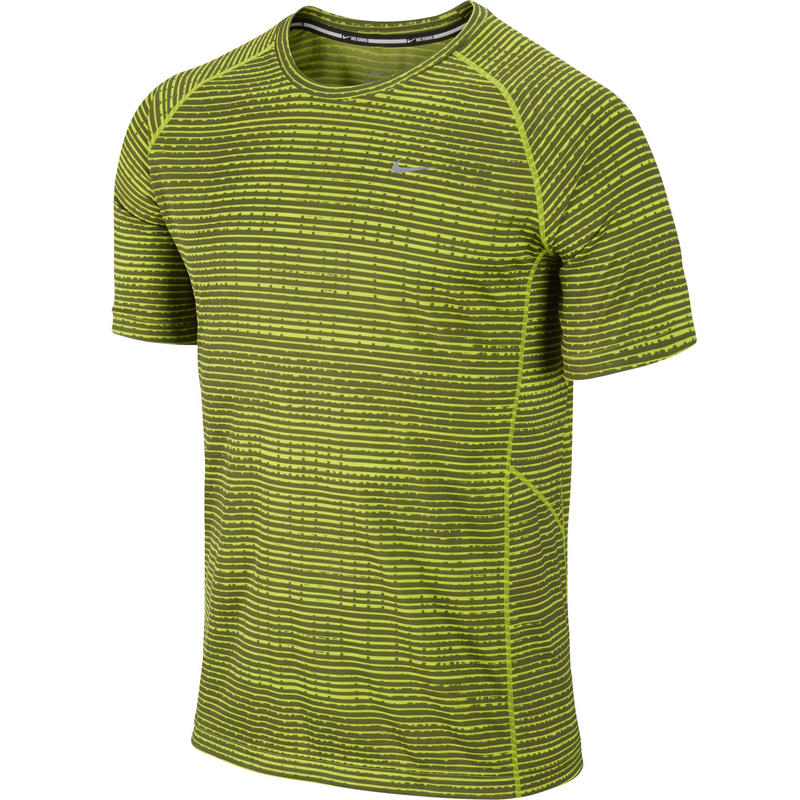 Printed Miler Short Sleeve Fierce Green