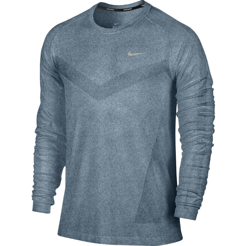 Dri Fit Knit Long Sleeve Tee Rift Blue/Heather