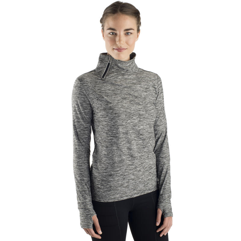 Lux Side Zip Top Heather Charcoal