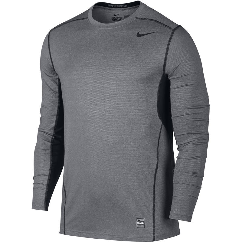 Pro Combat Hypercool Fitted Long Sleeve 3.0 Carbon Heather/Black