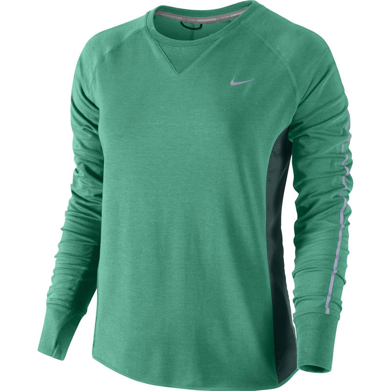 Sprint Fleece Crew Emerald Green/Dark Emerald