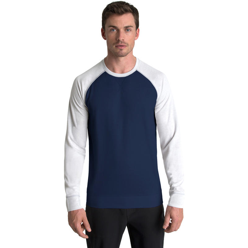 Spencer Long Sleeve Crew Neck Navy