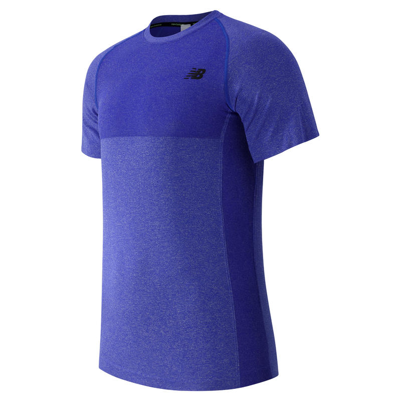 M4M Seamless Short Sleeve Top Pacific Heather