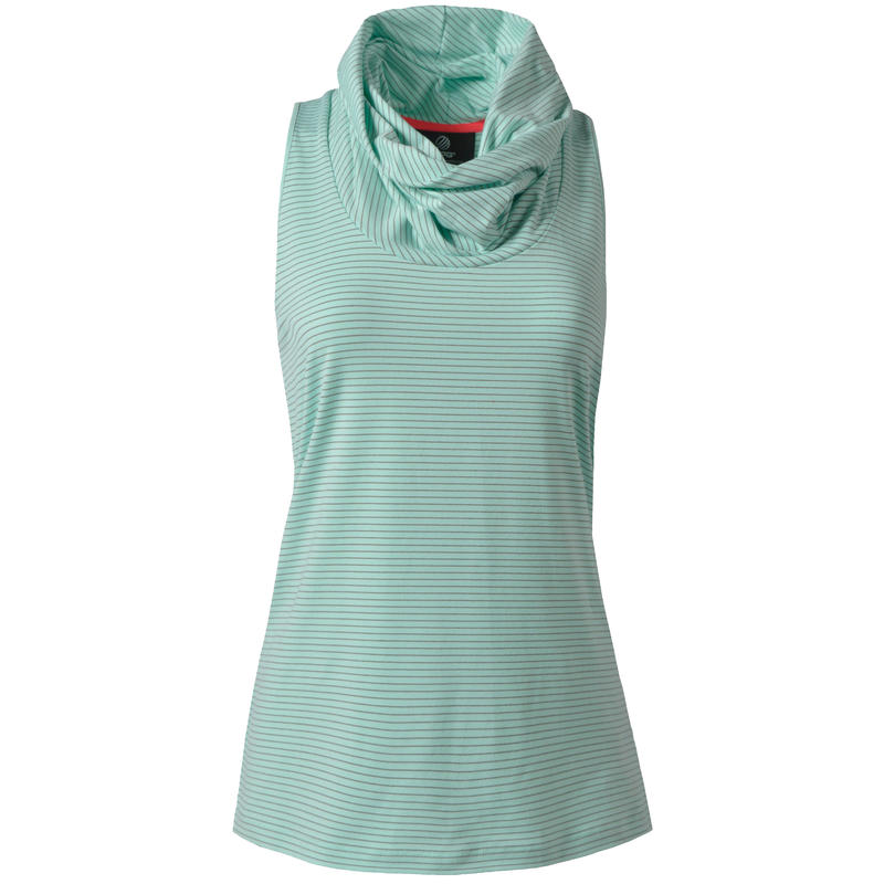 Brave Cowl Neck Sleeveless Top Cool Teal