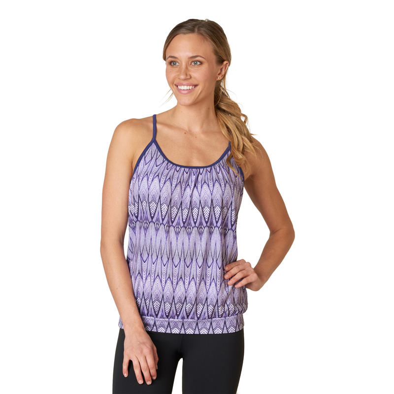Andie Top Violet Feather