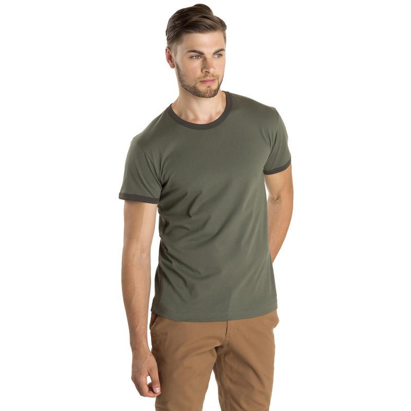 T-shirt Ringer Marais/Olive noire