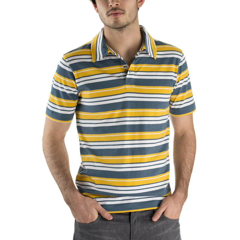 Channel Polo SS Shirt Tempest-Pollen Stripe
