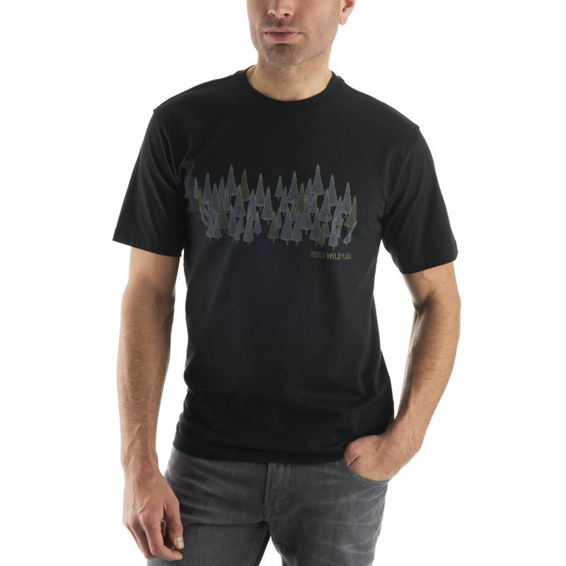 T-shirt Wild Places Graphique sites noirs