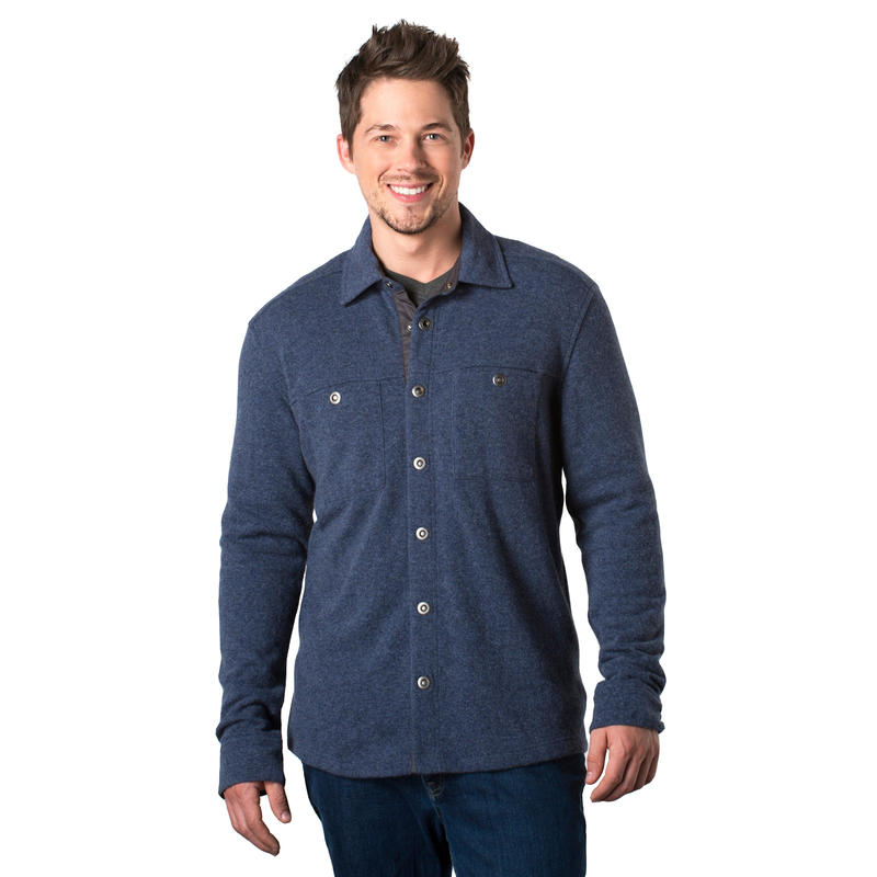 Sidecar Overshirt Blue Steel/Charcoal Heather