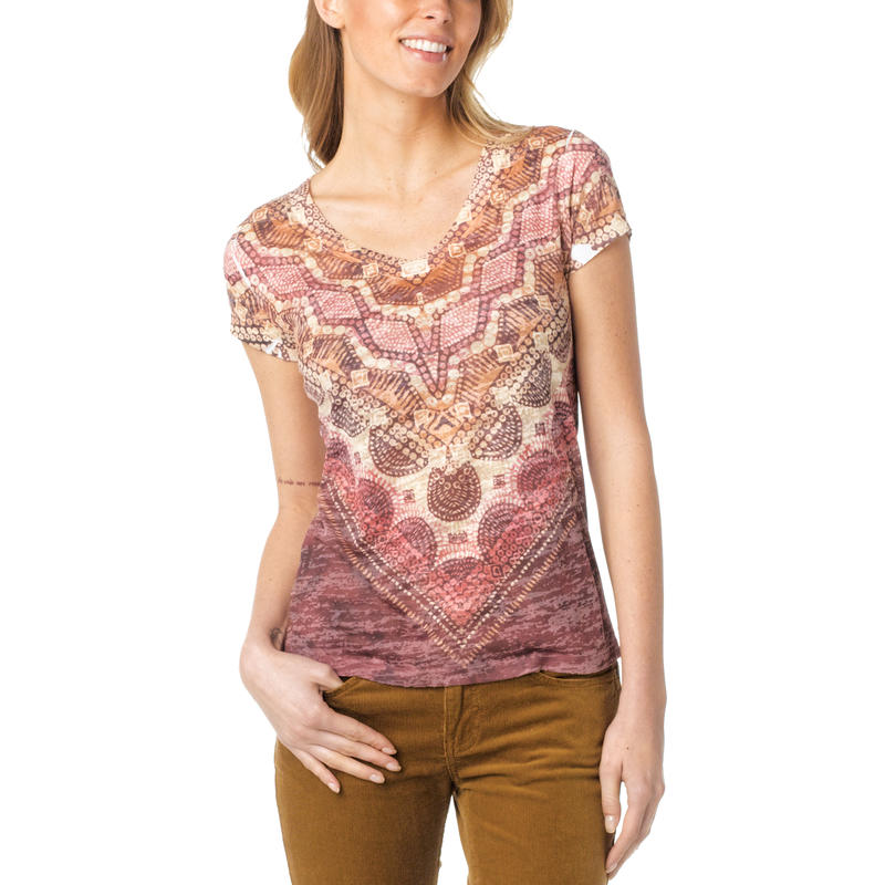 Braiden SS Top Terracotta