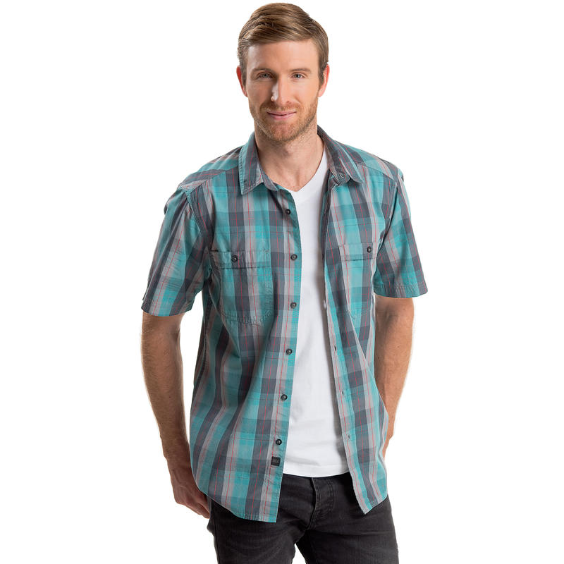 Crossroads 2 Shirt Dolphin-Reservoir North Star Plaid