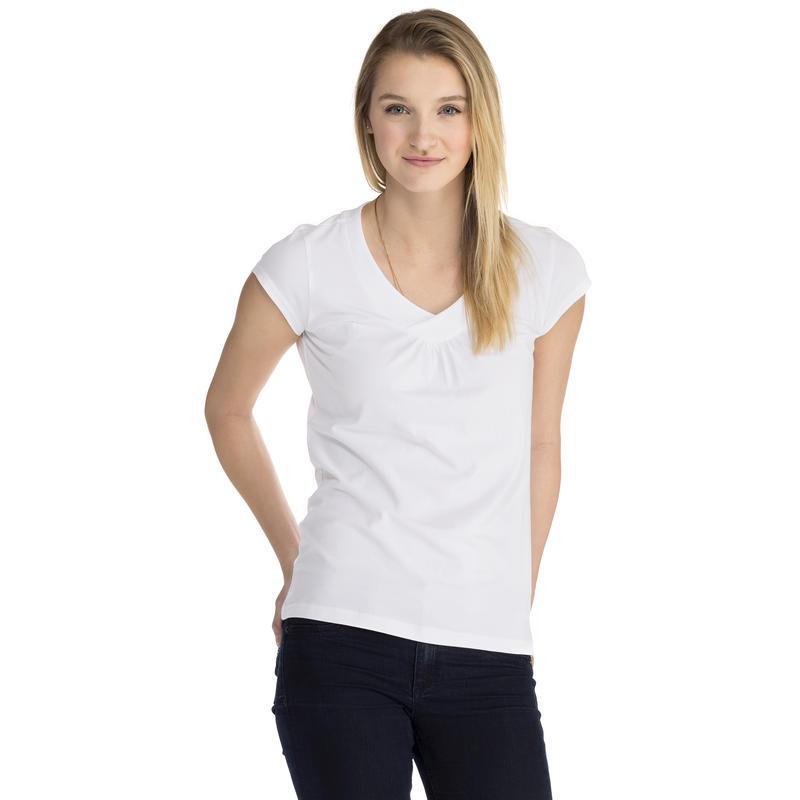 T-shirt à mancherons Blanc