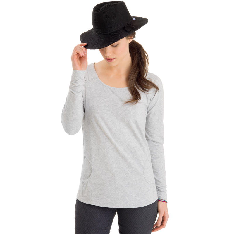 Field Day Long Sleeve Top Light Grey Heather