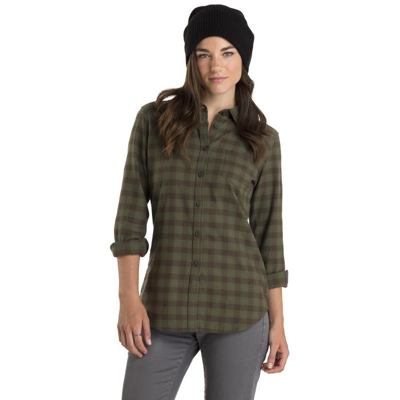 Cottage Long-Sleeved Shirt Swamp-Black Olive Frankie Plaid