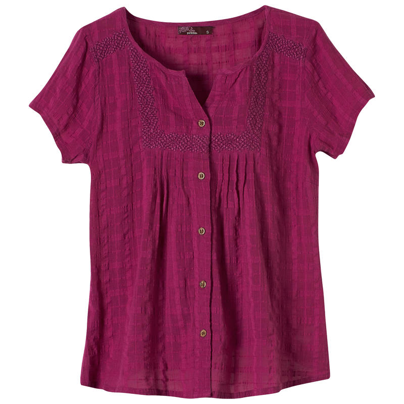 Lucie Short-Sleeved Top Rich Fuchsia