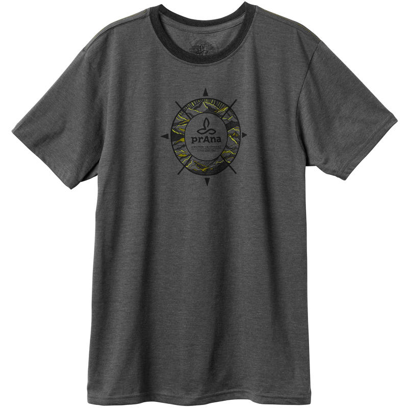 T-shirt Compass Charbon de bois