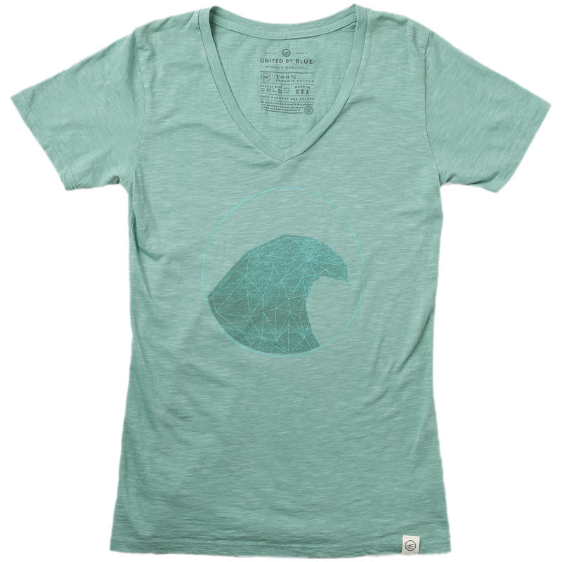 Fractal Wave Tee Seagrass