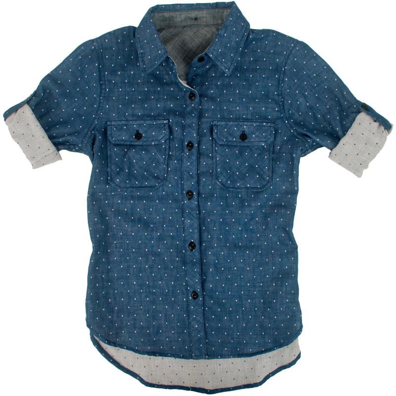 Chemise à pois Lewis Pois bleu