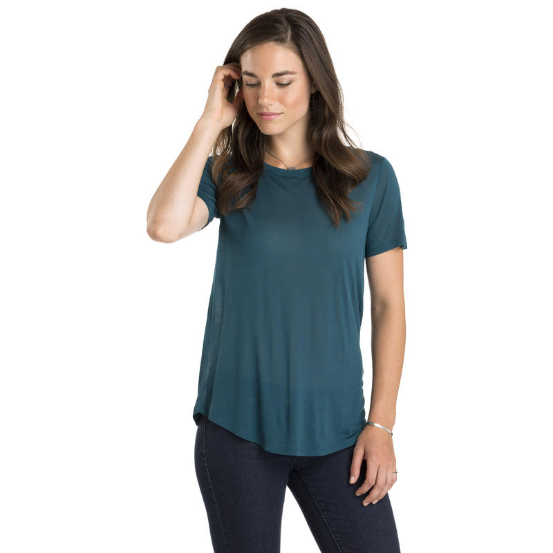 In The Know Short Sleeve Top Deep Teal