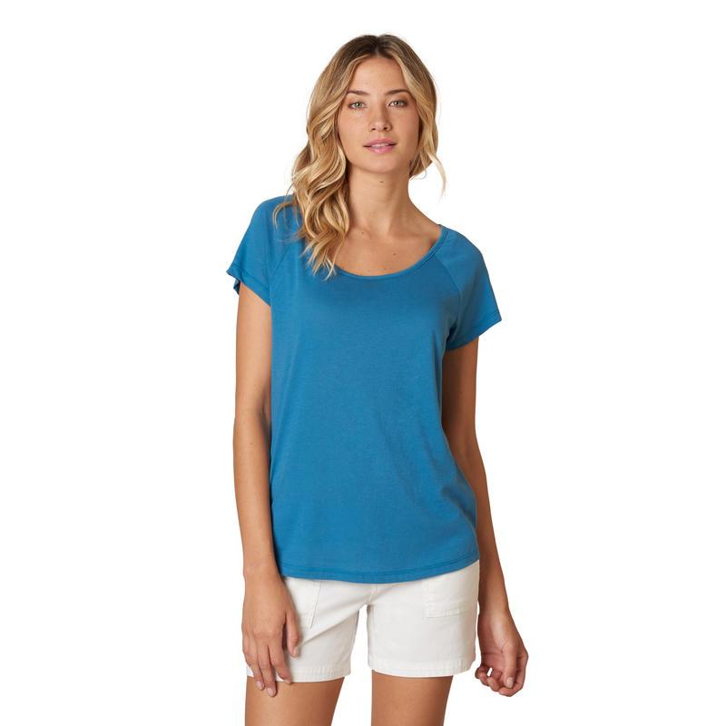 Dina Short-Sleeved Top Blue Ash