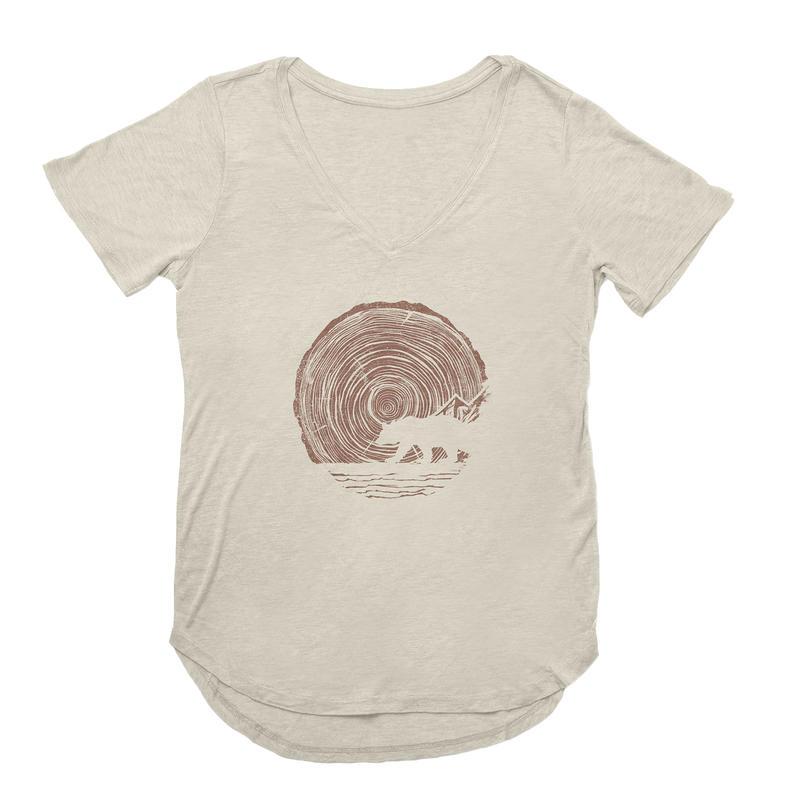 T-shirt Woodgrain Bear Tourterelle