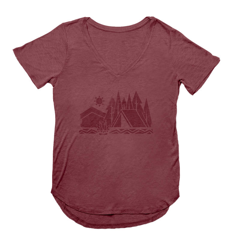 T-shirt Camp Geo Violet Mauvewood