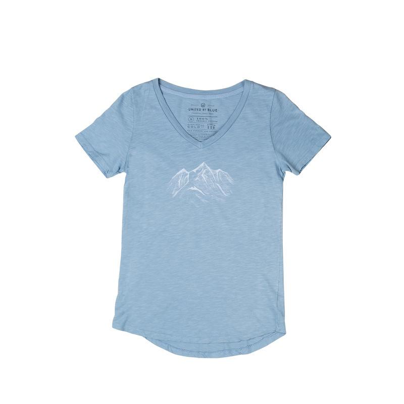 T-shirt Mountain Drift Bleu voilé