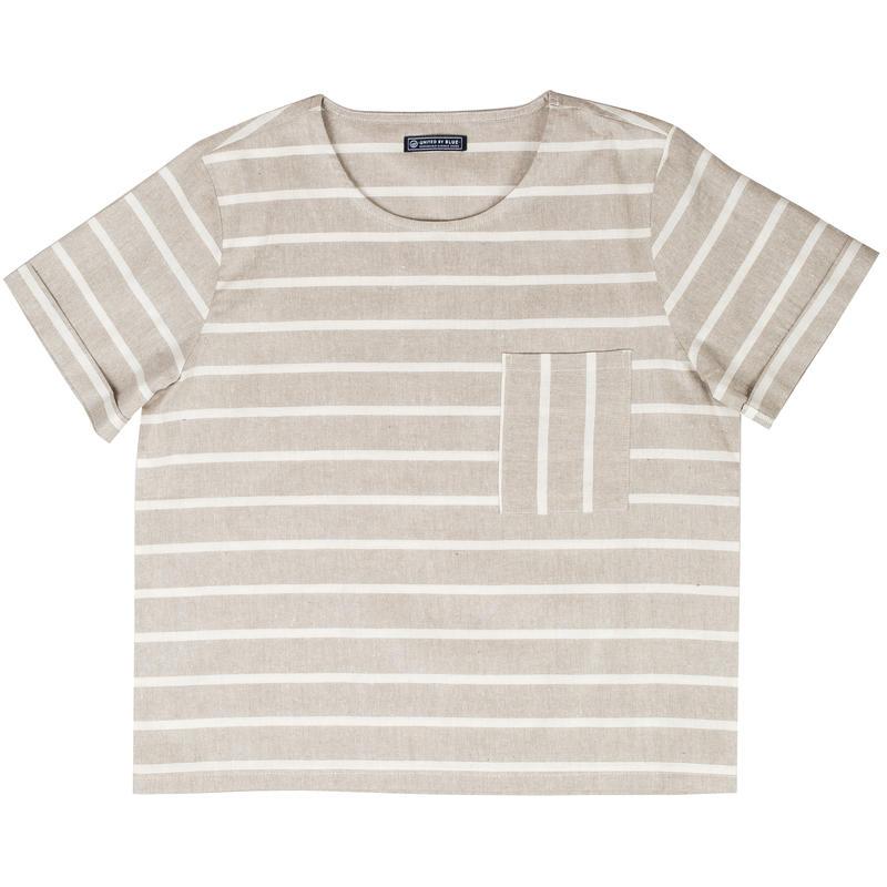 Tenton Cuff Short Sleeve Brown/White
