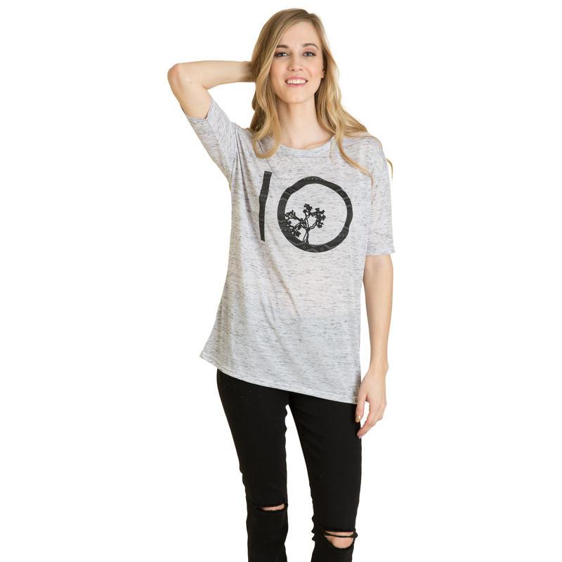 T-shirt Nicolet Marbre blanc