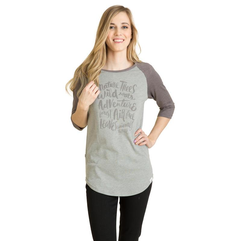 Paradise Long-Sleeved Tee Heather Grey/Asphalt