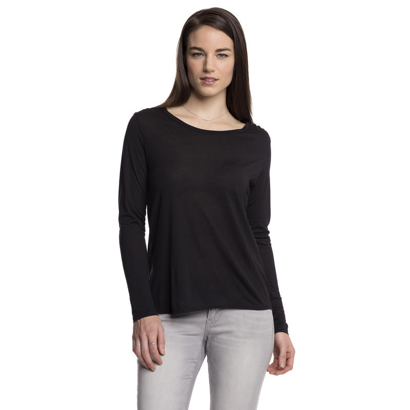 In The Know Long-Sleeved Top Black
