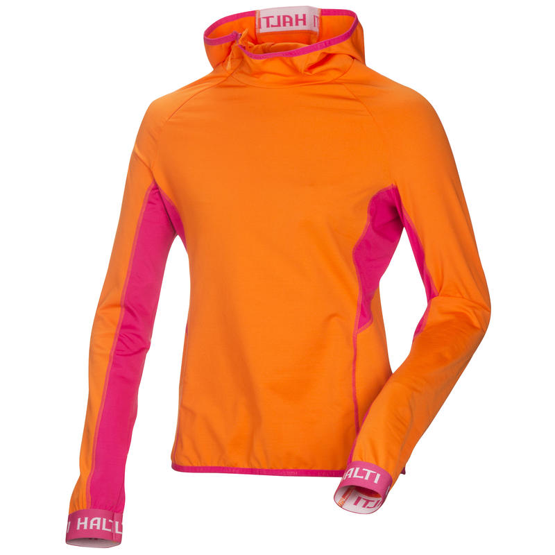 Maillot Team 2014 à manches longues Orange vibrant/Pourpre betterave