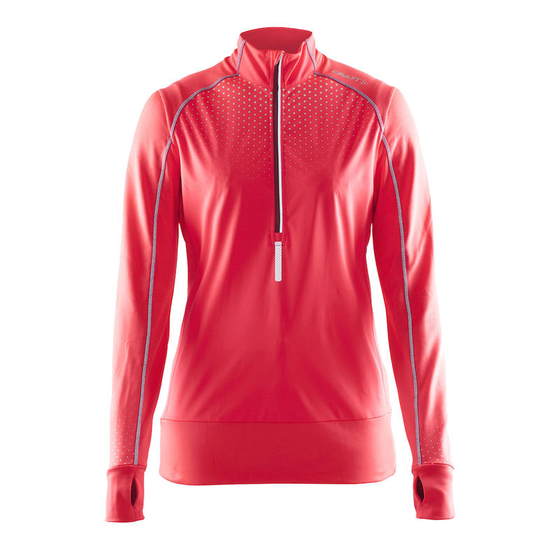 Maillot Brilliant Thermal Wind à manches longues Crush/Rubis