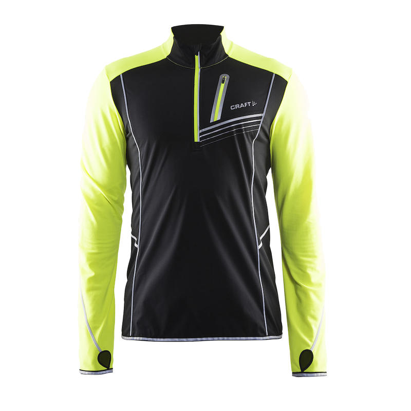 Maillot Brilliant Thermal Wind à manches longues Noir/Flumino