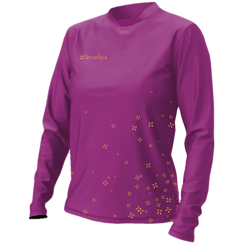 Coastal Long-Sleeved Lycra Sun Shirt Grape Juice