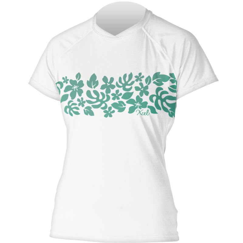 Ventx Short-Sleeved Top White/Floral Tapa Print