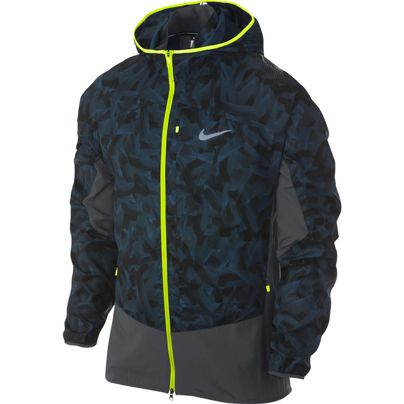 Printed Trail Kiger Jacket Space Blue/Anthracite