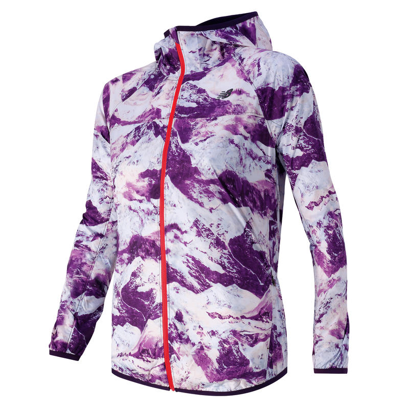 Windcheater Jacket Imperial Purple Print