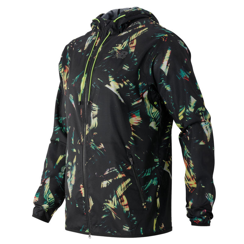 Windcheater Hybrid Jacket Palm Print