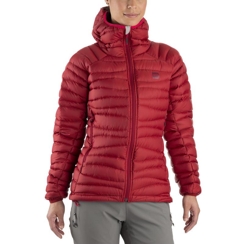 Manteau à capuchon Light Degree Rouge sombre