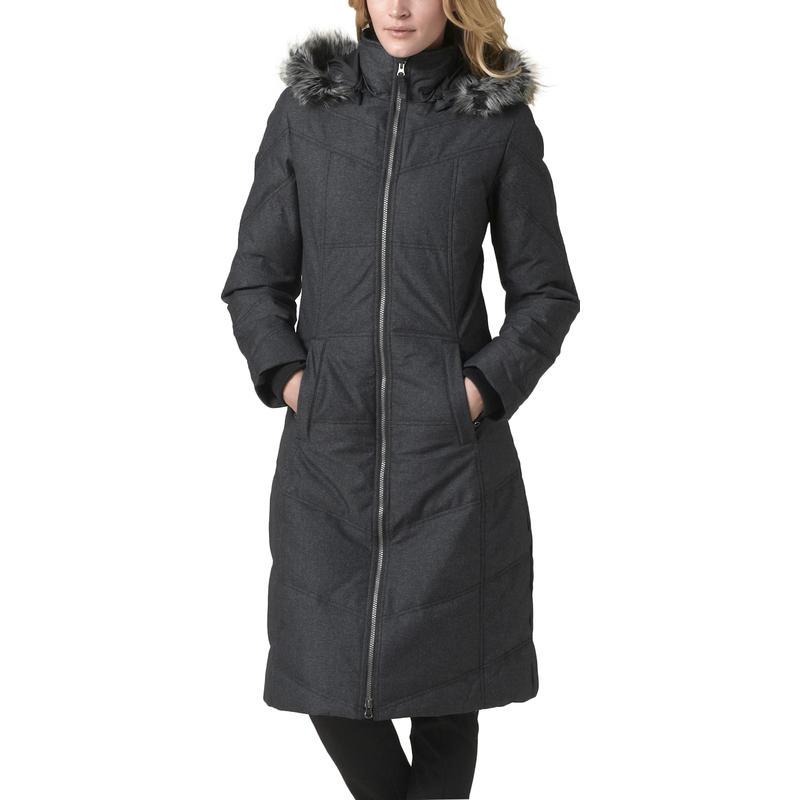 Manteau en duvet Ronnie Noir chiné